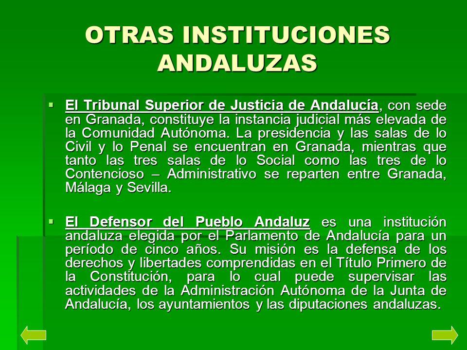 OTRAS INSTITUCIONES ANDALUZAS