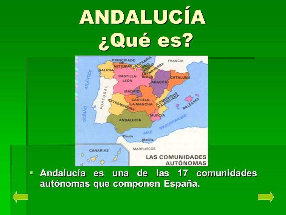 ANDALUCÍA ¿Qué es Andalucía es una de las 17 comunidades autónomas que componen España.