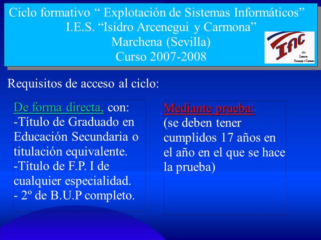 I.E.S. Isidro Arcenegui y Carmona
