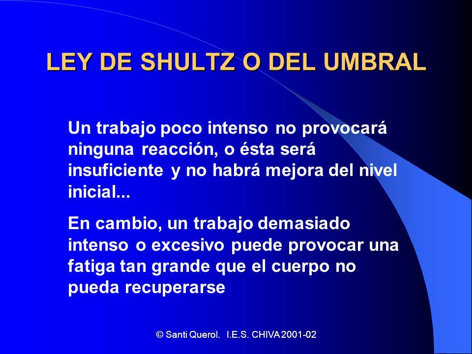 LEY DE SHULTZ O DEL UMBRAL