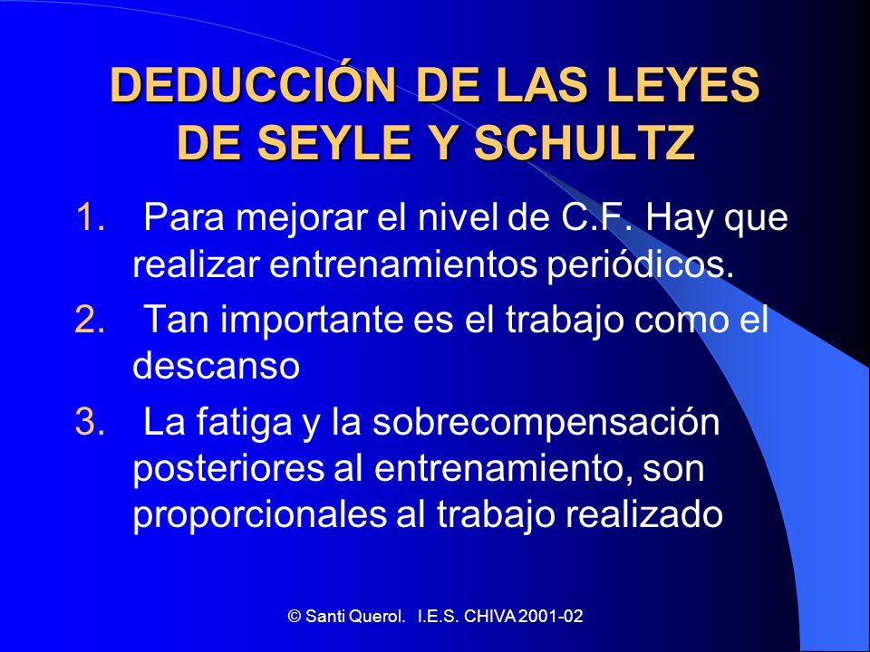 DEDUCCIÓN DE LAS LEYES DE SEYLE Y SCHULTZ