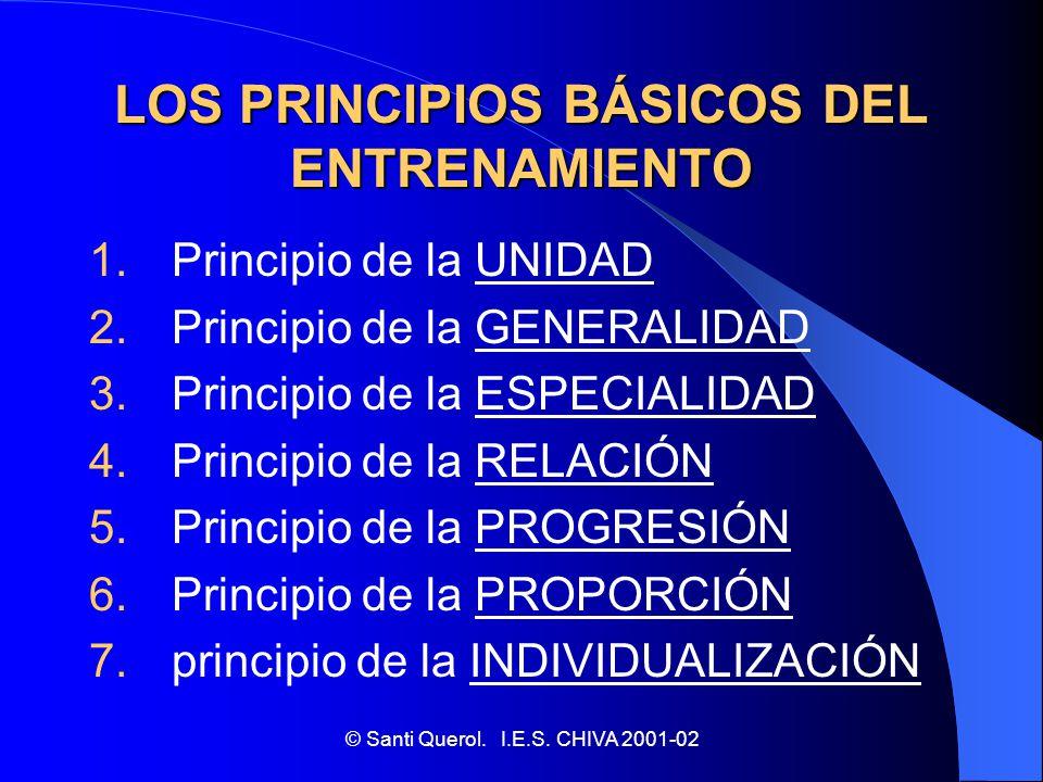 LOS PRINCIPIOS BÁSICOS DEL ENTRENAMIENTO