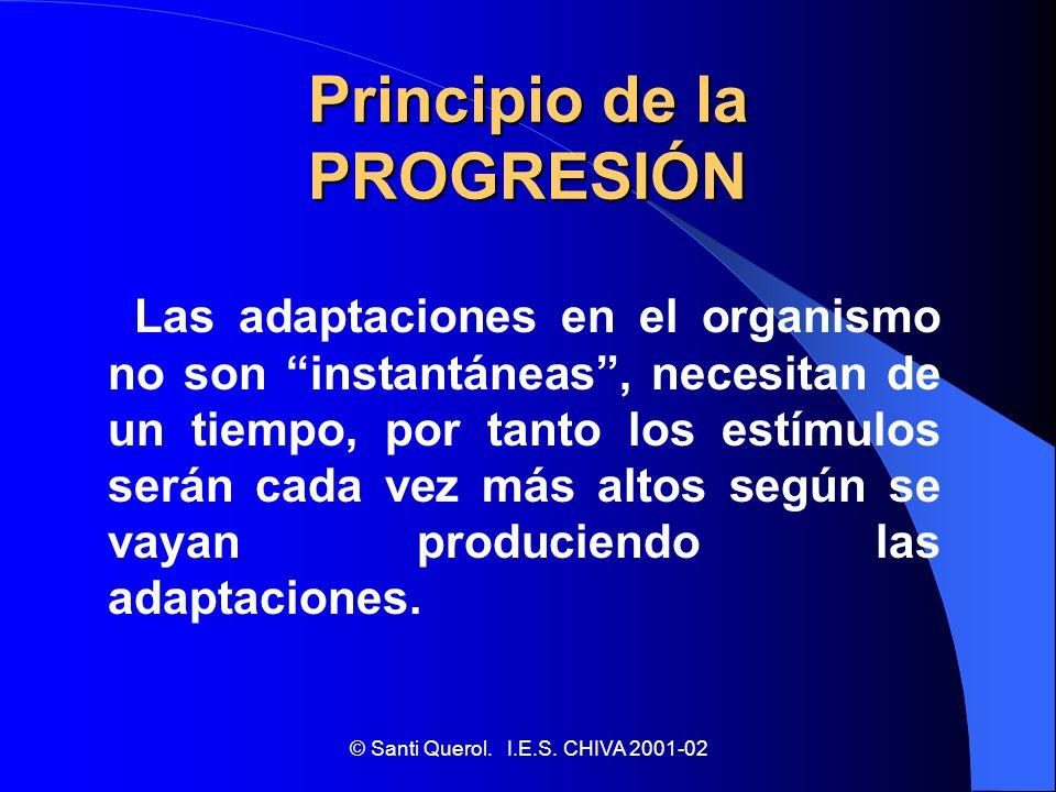 Principio de la PROGRESIÓN