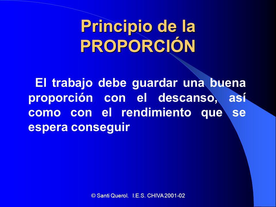 Principio de la PROPORCIÓN