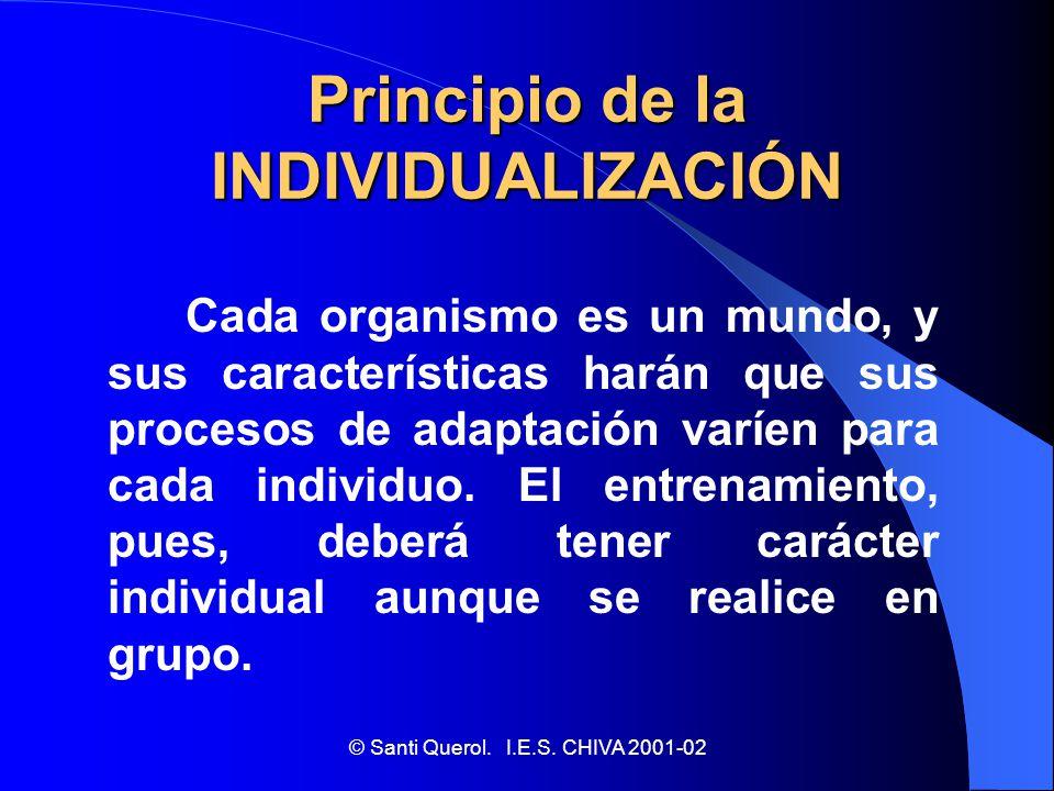 Principio de la INDIVIDUALIZACIÓN