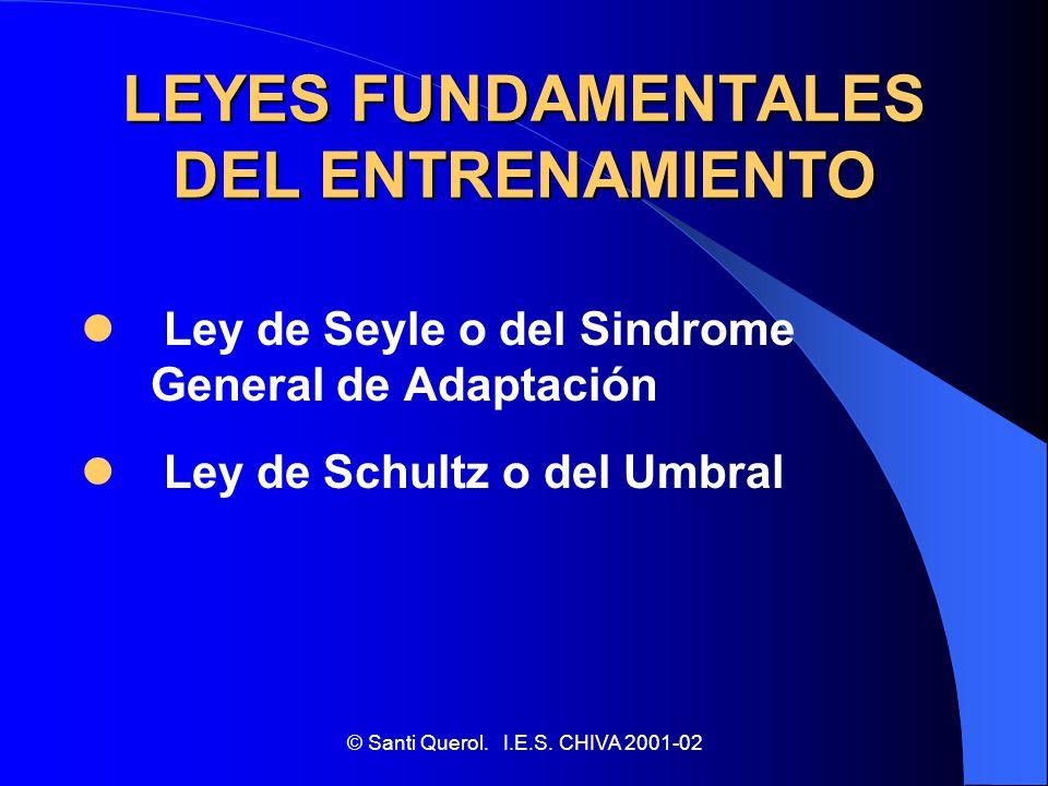 LEYES FUNDAMENTALES DEL ENTRENAMIENTO