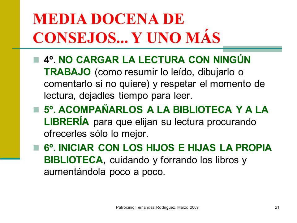 MEDIA DOCENA DE CONSEJOS... Y UNO MÁS