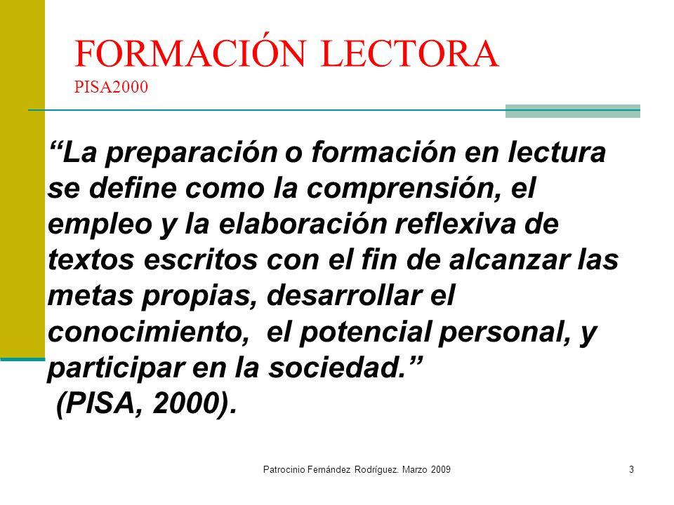 FORMACIÓN LECTORA PISA2000