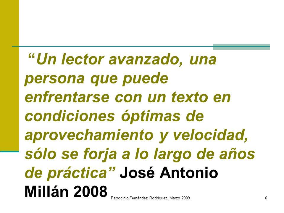 Patrocinio Fernández Rodríguez. Marzo 2009