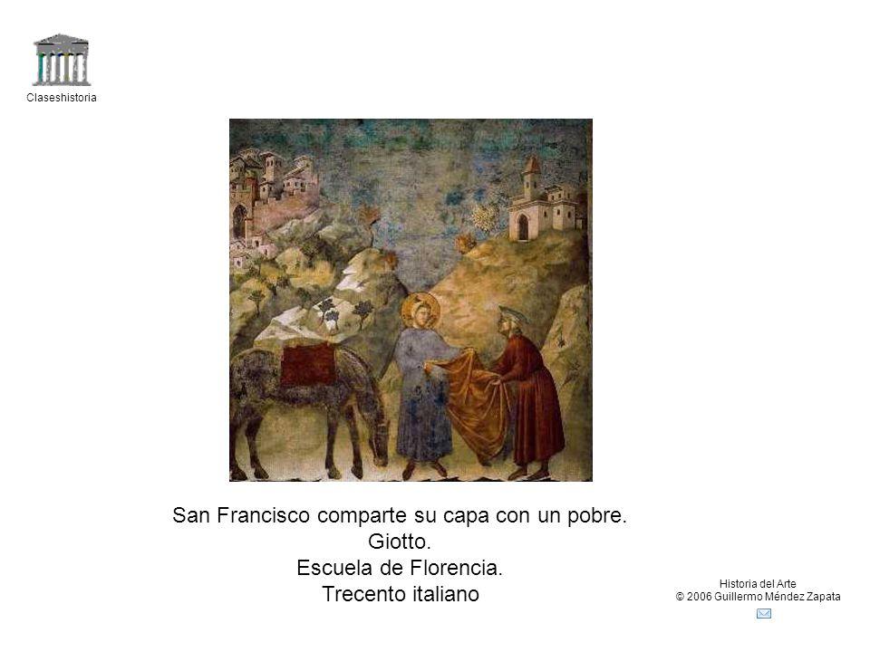 San Francisco comparte su capa con un pobre. Giotto.