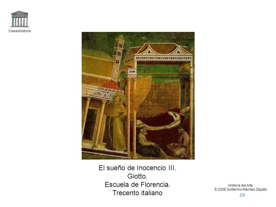 El sueño de Inocencio III. Giotto. Escuela de Florencia.