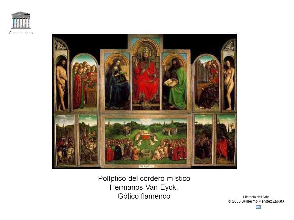 Políptico del cordero místico Hermanos Van Eyck. Gótico flamenco