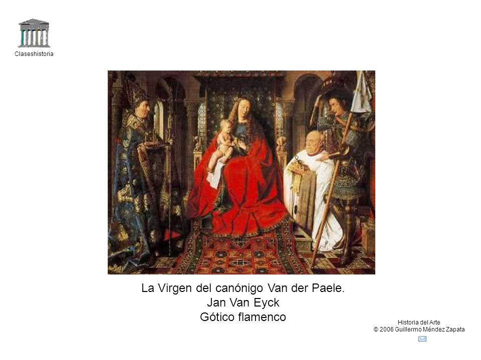 La Virgen del canónigo Van der Paele. Jan Van Eyck Gótico flamenco