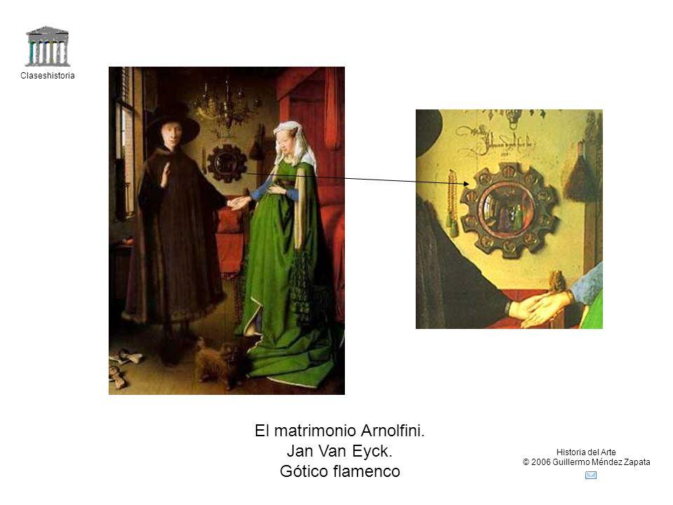 El matrimonio Arnolfini. Jan Van Eyck. Gótico flamenco