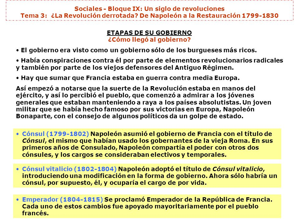ETAPAS DE SU GOBIERNO ¿Cómo llegó al gobierno