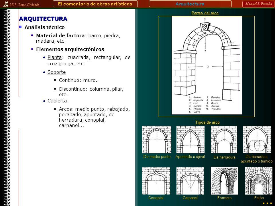 ... ARQUITECTURA El comentario de obras artísticas Arquitectura