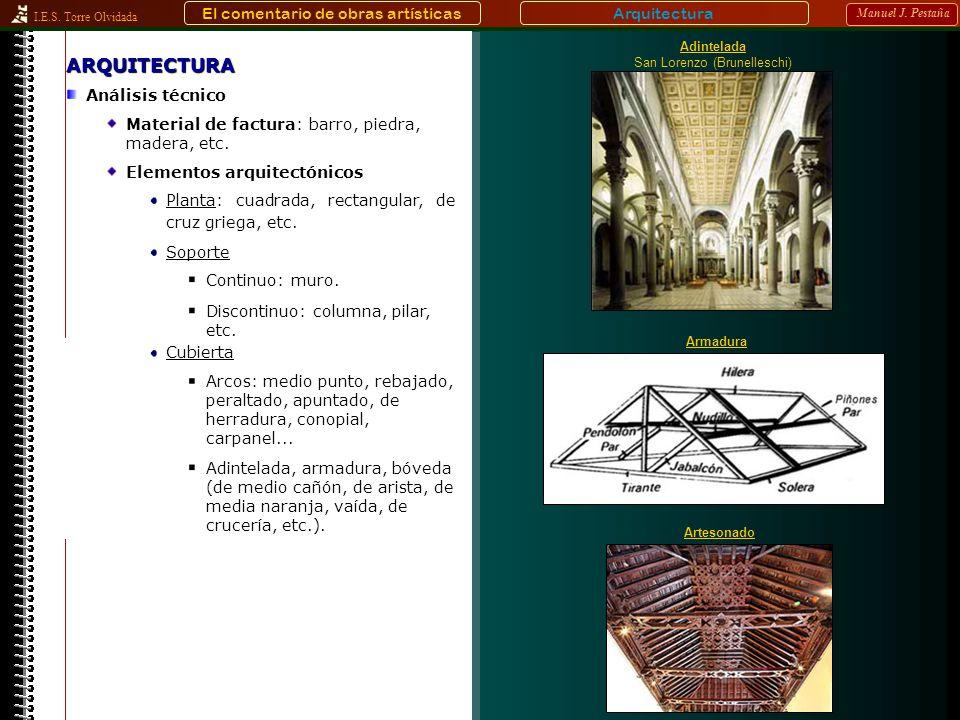 ARQUITECTURA El comentario de obras artísticas Arquitectura
