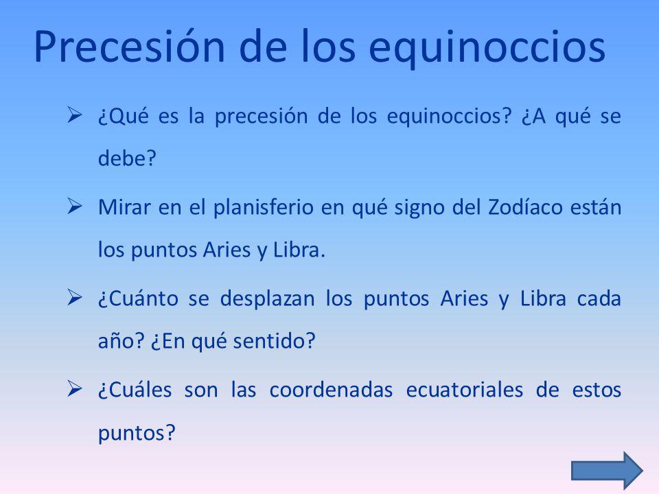 Precesión de los equinoccios