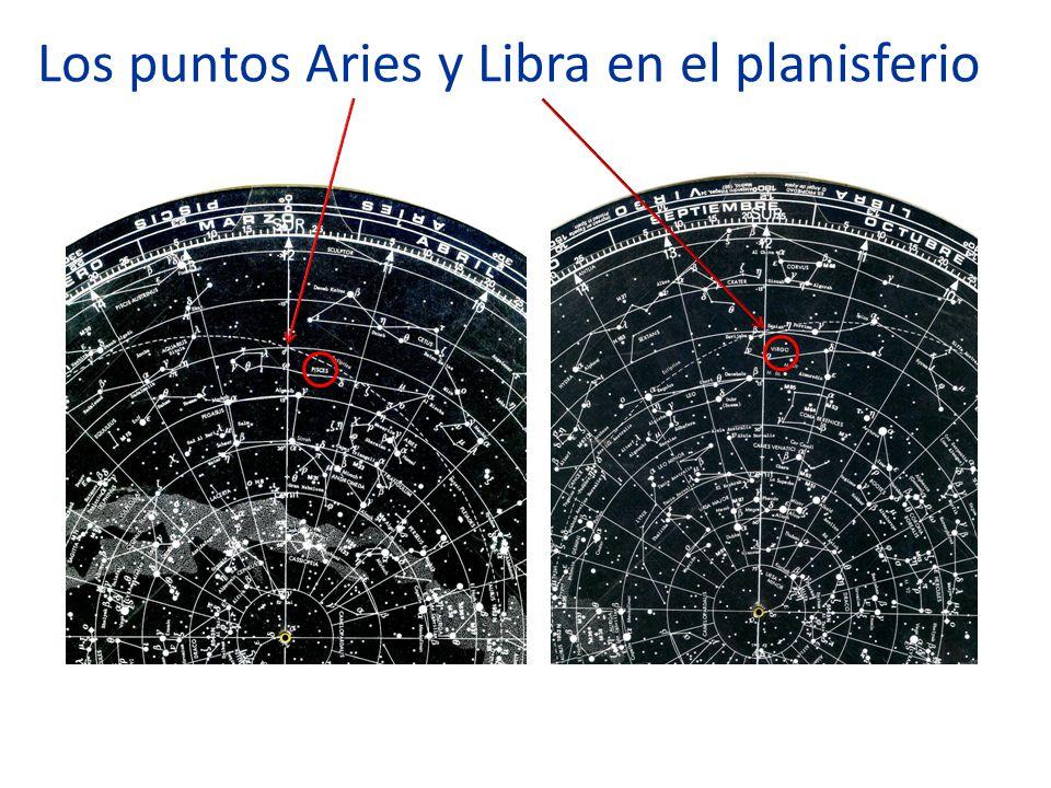 Los puntos Aries y Libra en el planisferio