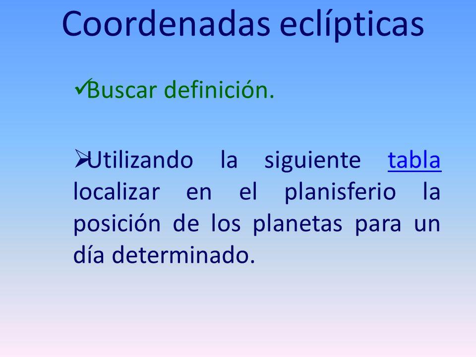 Coordenadas eclípticas