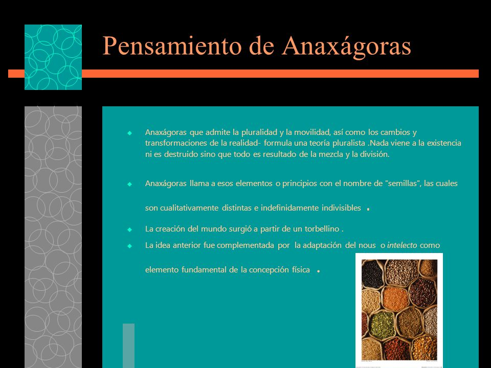 Pensamiento de Anaxágoras