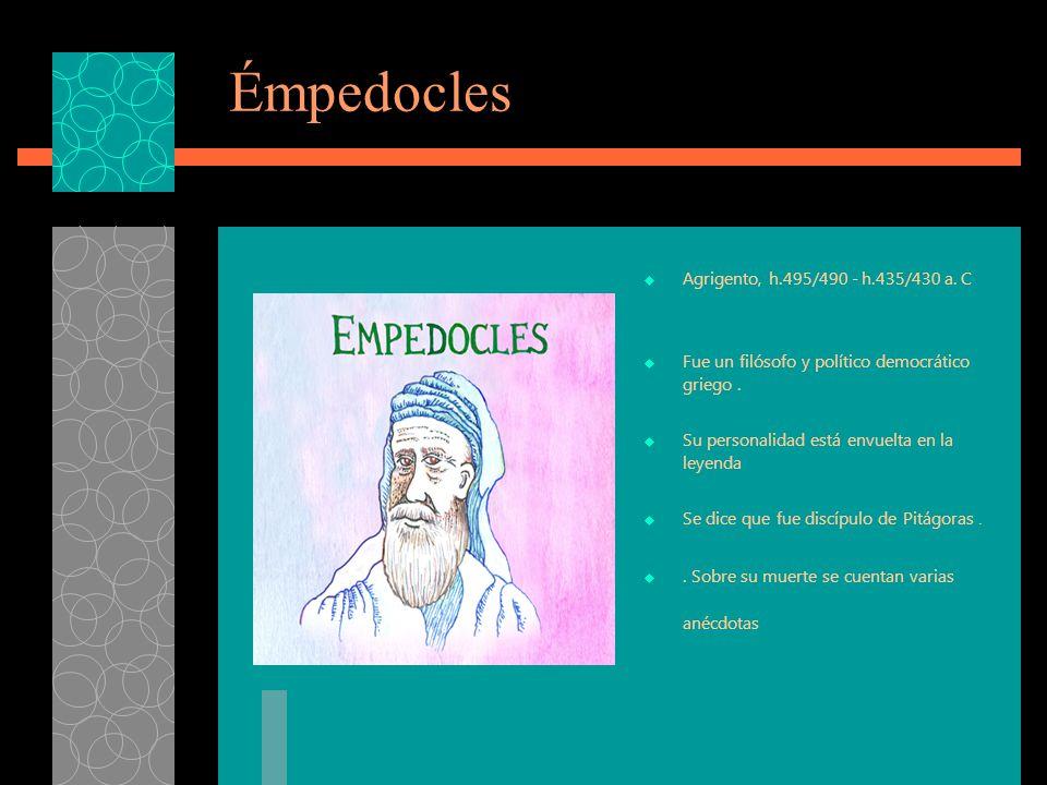 Émpedocles Agrigento, h.495/490 - h.435/430 a. C