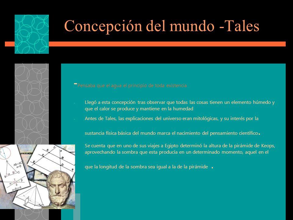 Concepción del mundo -Tales
