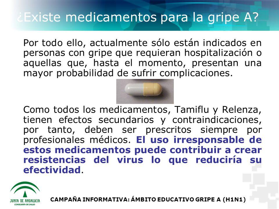 ¿Existe medicamentos para la gripe A