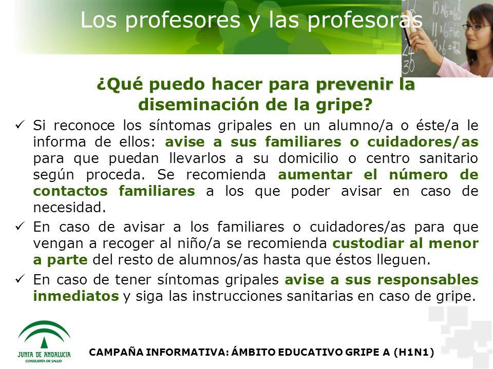 Los profesores y las profesoras