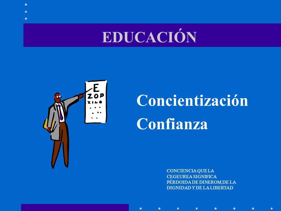 Concientización Confianza EDUCACIÓN