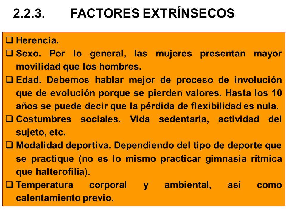 2.2.3. FACTORES EXTRÍNSECOS Herencia.