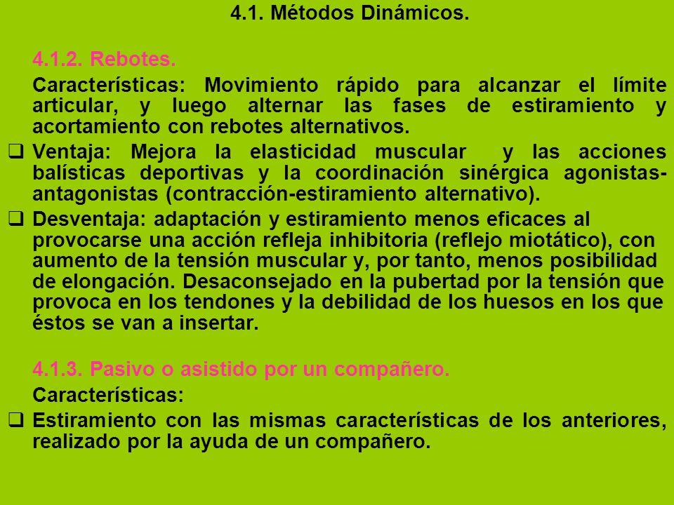 4.1. Métodos Dinámicos. 4.1.2. Rebotes.