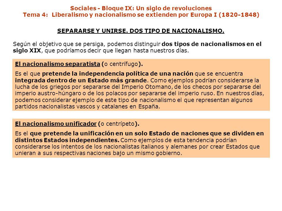 SEPARARSE Y UNIRSE. DOS TIPO DE NACIONALISMO.