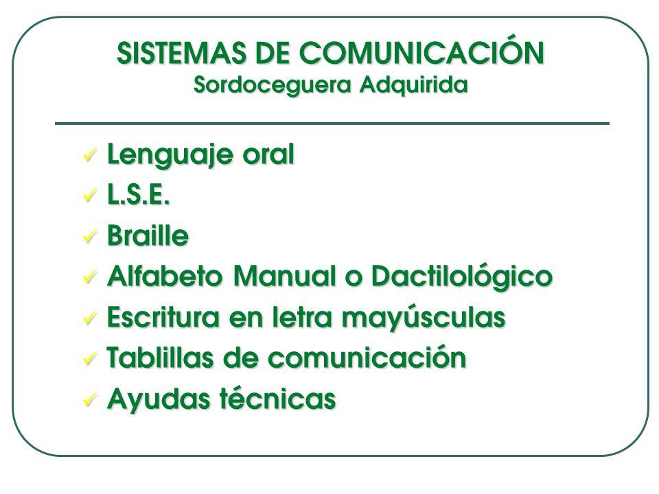 SISTEMAS DE COMUNICACIÓN Sordoceguera Adquirida