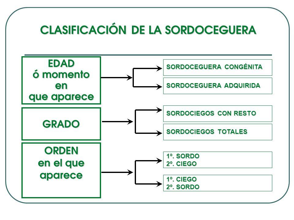 CLASIFICACIÓN DE LA SORDOCEGUERA