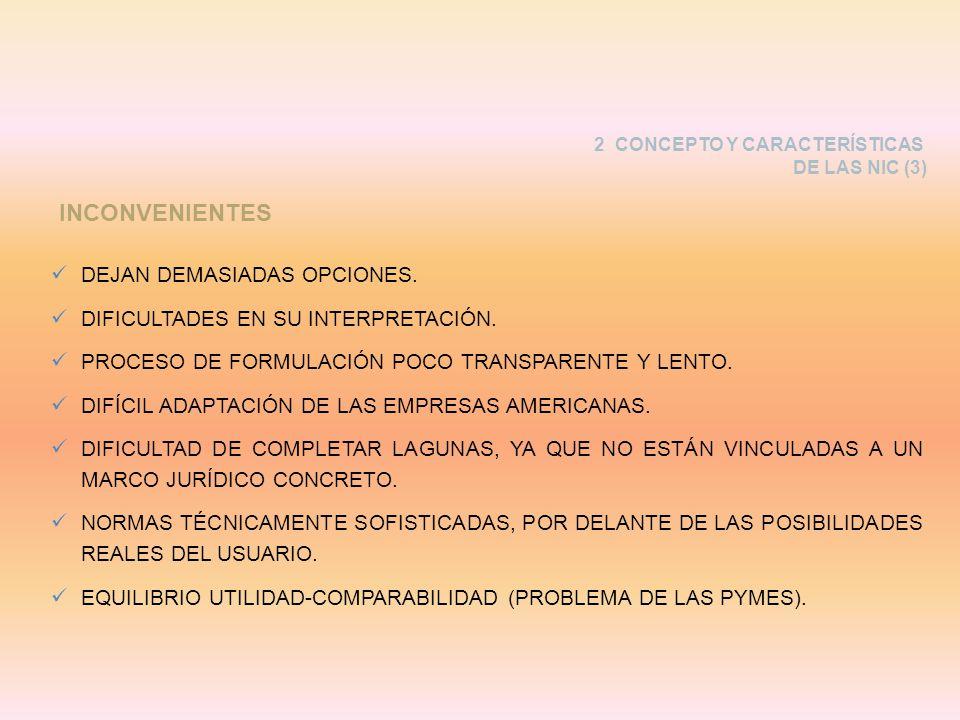 INCONVENIENTES DEJAN DEMASIADAS OPCIONES.