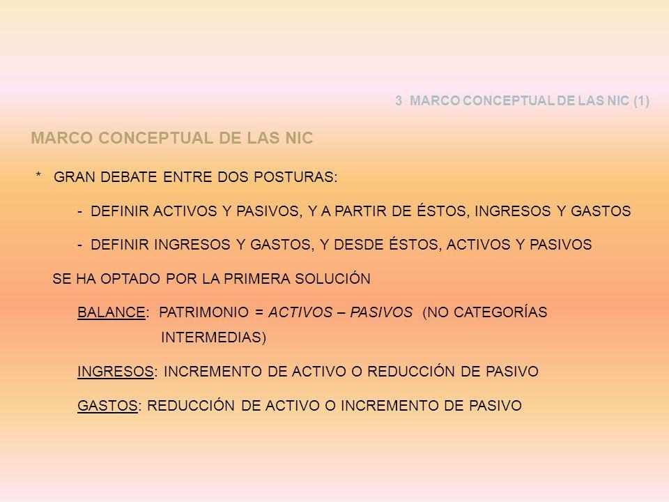 MARCO CONCEPTUAL DE LAS NIC