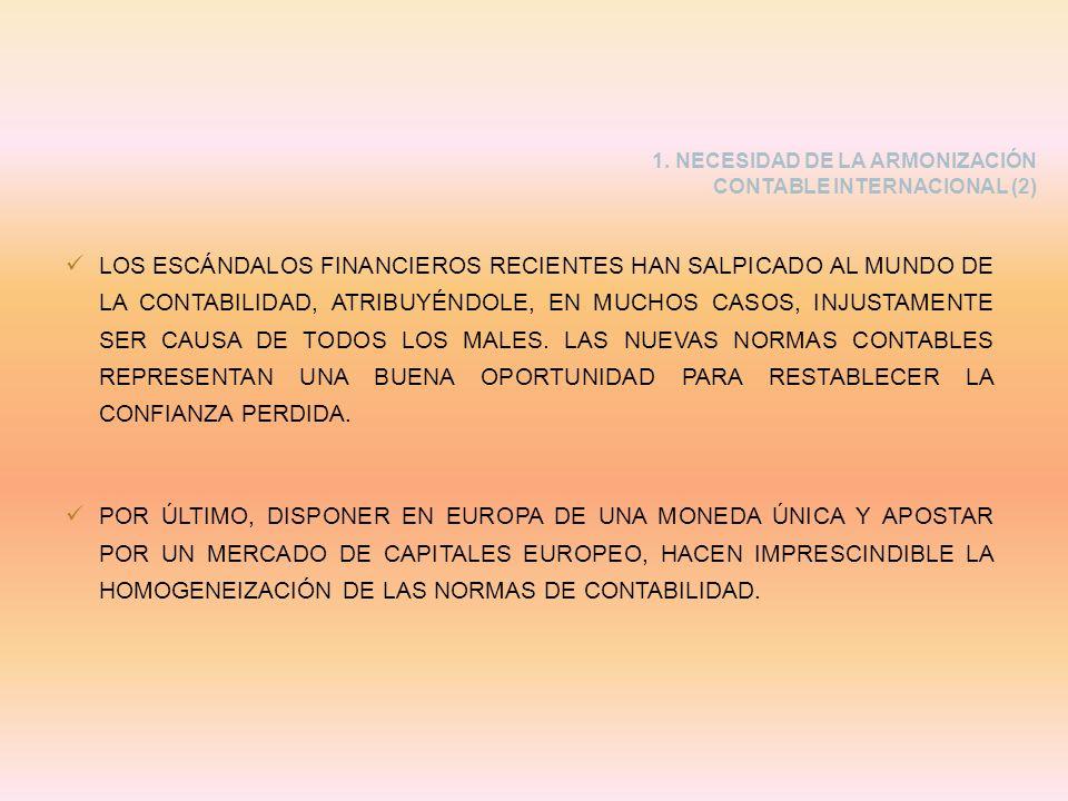 1. NECESIDAD DE LA ARMONIZACIÓN