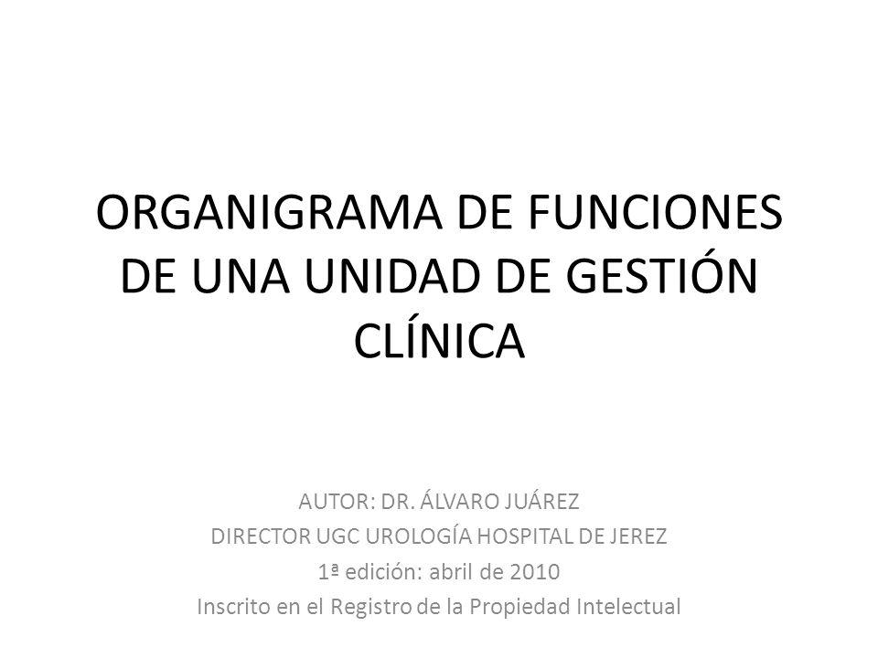 ORGANIGRAMA DE FUNCIONES DE UNA UNIDAD DE GESTIÓN CLÍNICA