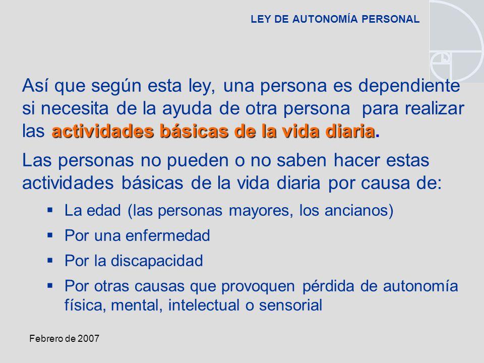 LEY DE AUTONOMÍA PERSONAL