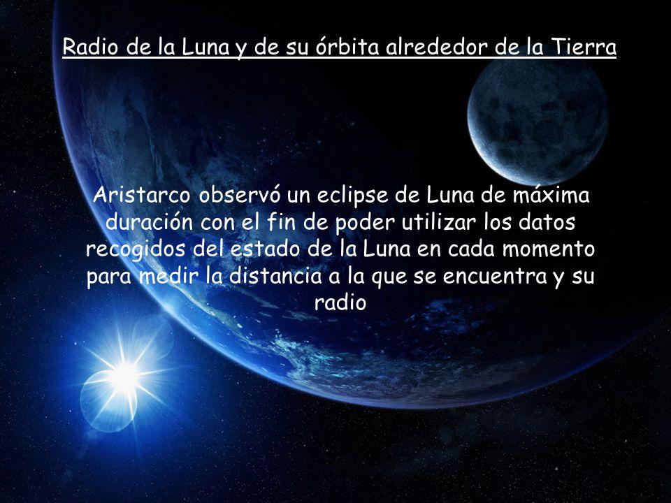 Radio de la Luna y de su órbita alrededor de la Tierra