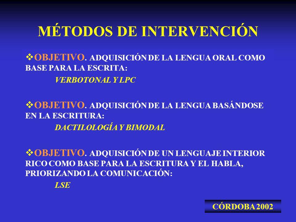 MÉTODOS DE INTERVENCIÓN