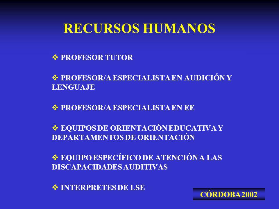 RECURSOS HUMANOS PROFESOR TUTOR