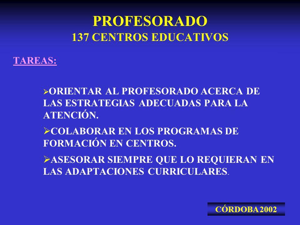 PROFESORADO 137 CENTROS EDUCATIVOS