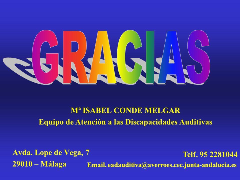 Avda. Lope de Vega, 7 29010 – Málaga