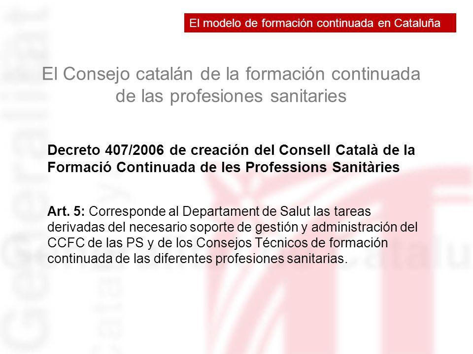 El modelo de formación continuada en Cataluña