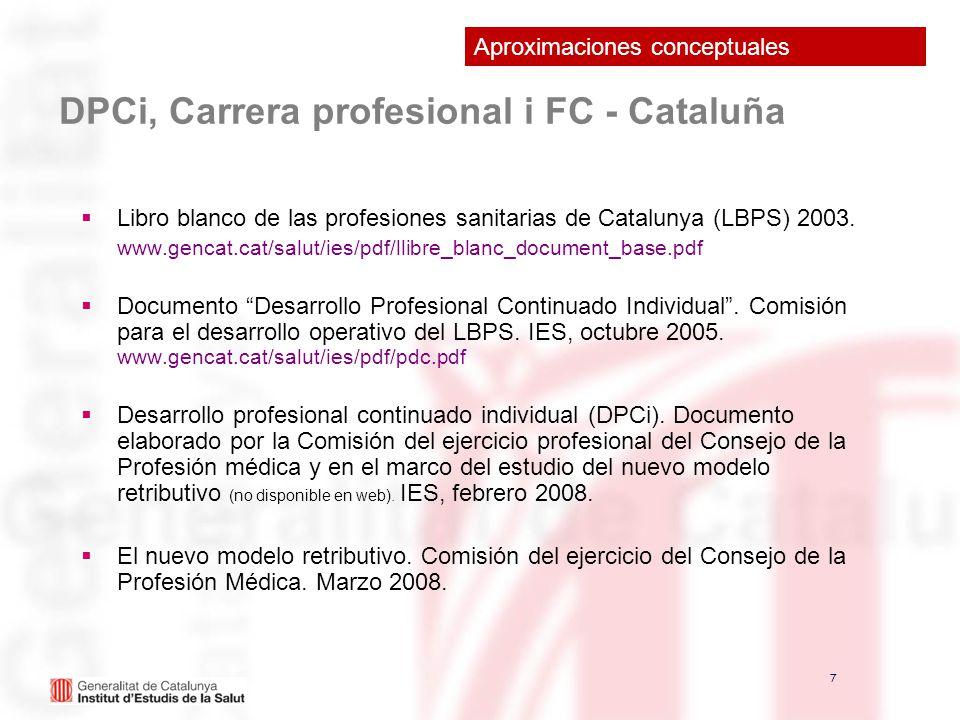 DPCi, Carrera profesional i FC - Cataluña