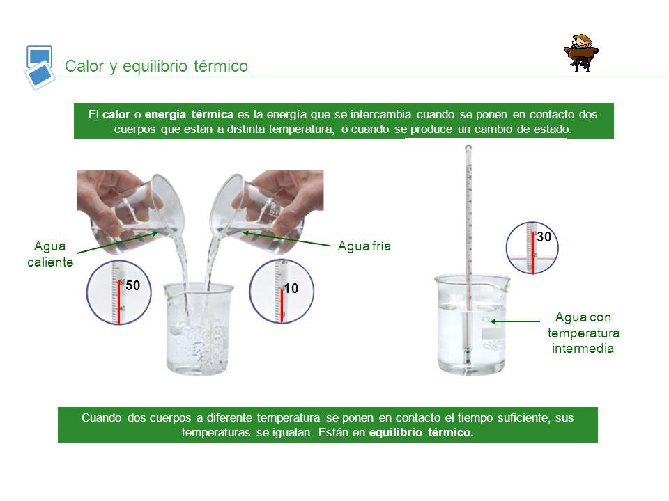 Agua con temperatura intermedia