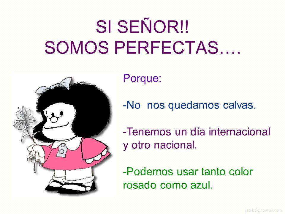 SI SEÑOR!! SOMOS PERFECTAS….