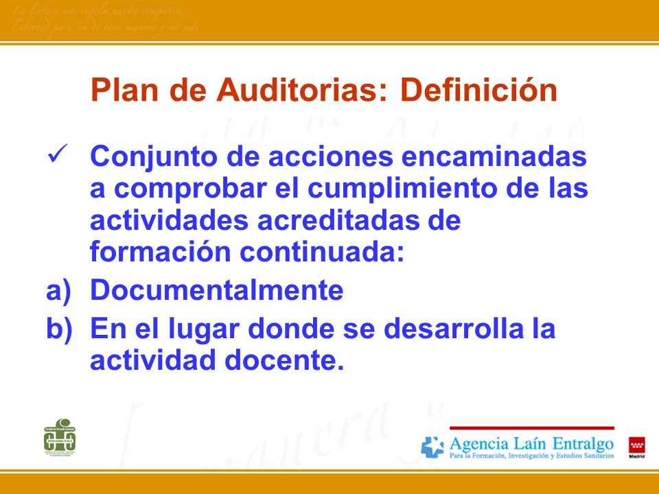 Plan de Auditorias: Definición